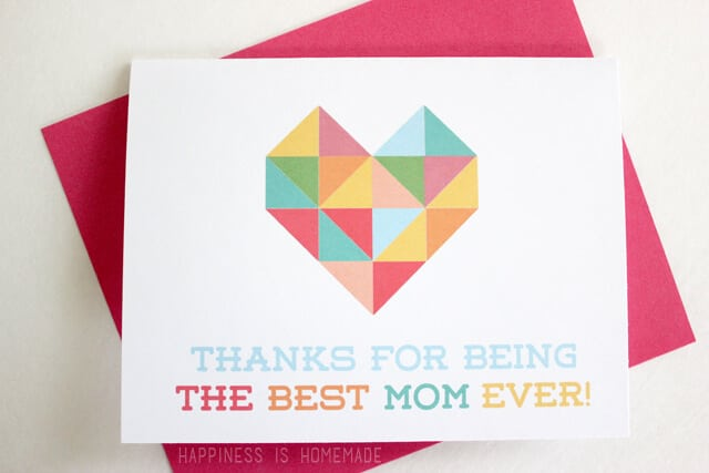 Free Printable Mother's Day Card for Mom