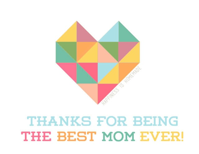 Geometric Heart Free Printable Mother's Day Card