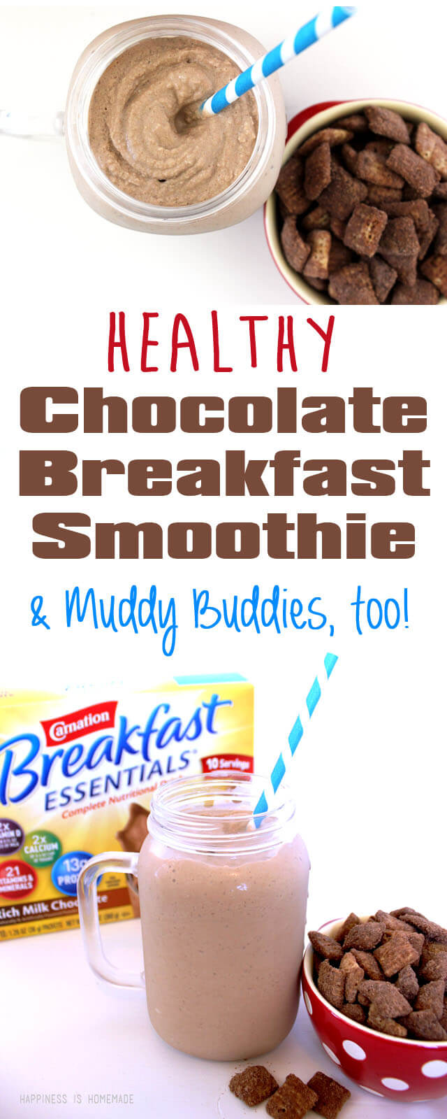 Healthy Chocolate Breakfast Essentials Smoothie