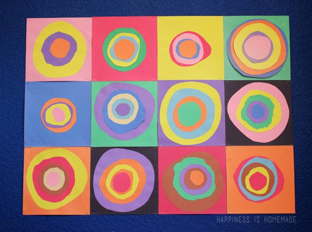 Kids Art Lesson Kandinsky Inspired Concentric Circles