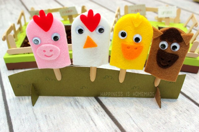 Kiwi Crate Farm Friends Finger Puppets