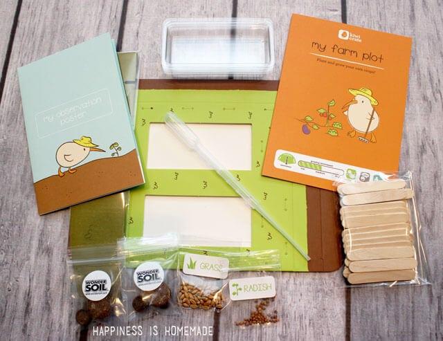 Kiwi Crate Mini Garden Materials