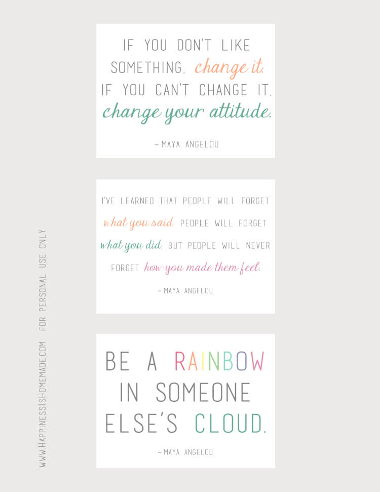 Maya Angelou Quote Project Life Cards via Happiness is Homemade