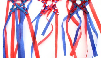 4th of July Kids Craft: Popsicle Stick Star Streamers