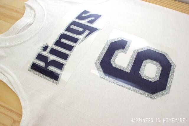 DIY Sports Team Shirts with Heat Transfer Vinyl