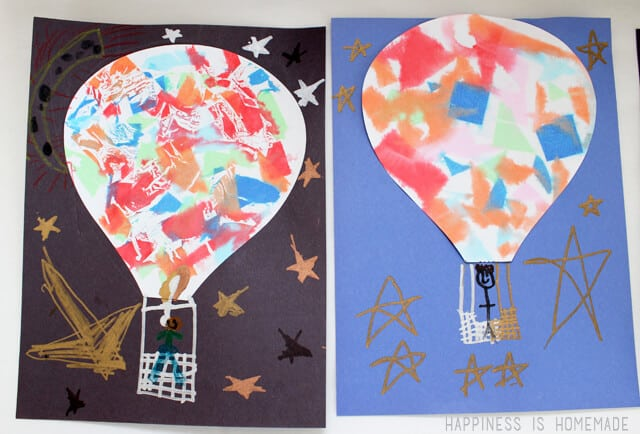Hot Air Balloon Kids Artwork