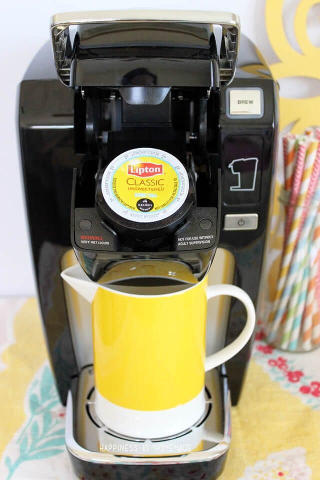 Keurig Mini with Lipton Tea K Cups