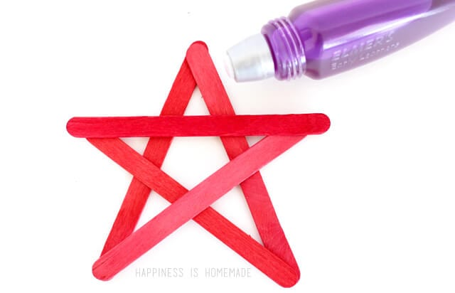 Kids Craft Popsicle Stick Stars for 4th of July