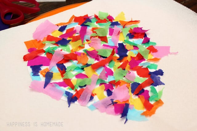 Making Bleeding Tissue Paper Art