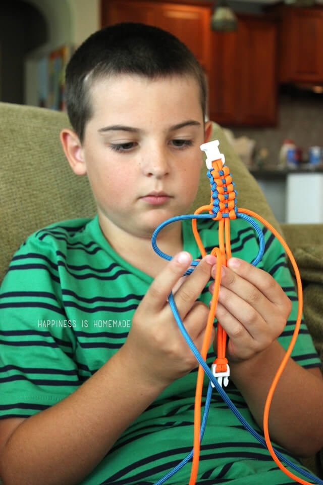 Paracord Bracelet Making Craft Activity for Boys