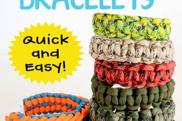 Paracord Bracelets are a Quick and Easy Kids Craft Idea