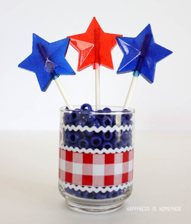 Patriotic Star Shaped Lollipops Tutorial