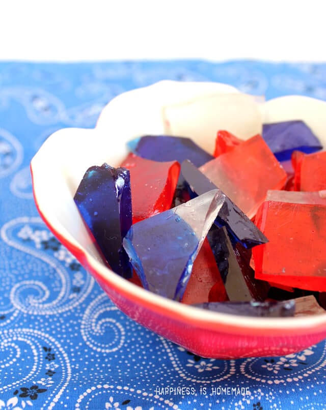 Red White and Blue Hard Candy for 4th of July