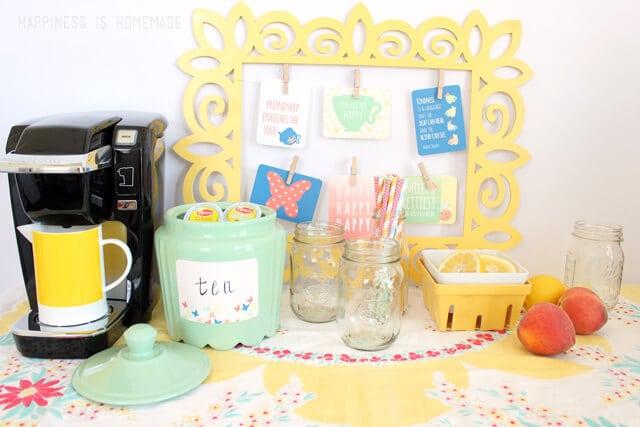 Vintage Modern Iced Tea Bar with Lipton K Cups