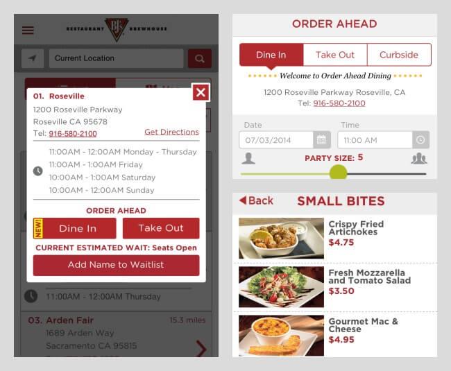 BJ's Restaurant App