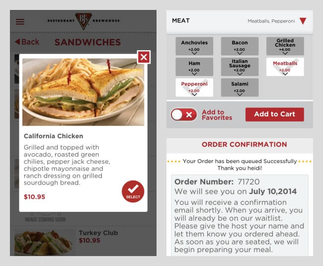 BJ's Restaurant Phone App