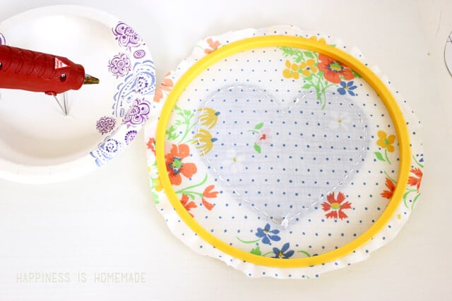 Finishing Embroidery Hoop Art