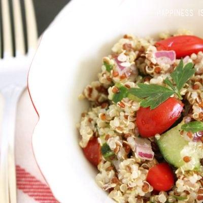 Garden Fresh Quinoa Tabbouleh Salad Recipe