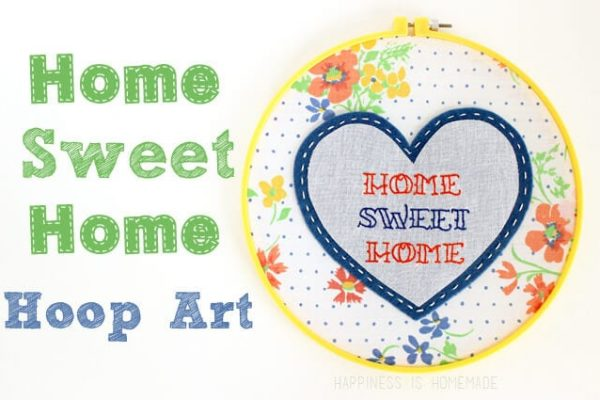 Home Sweet Home Embroidered Hoop Art