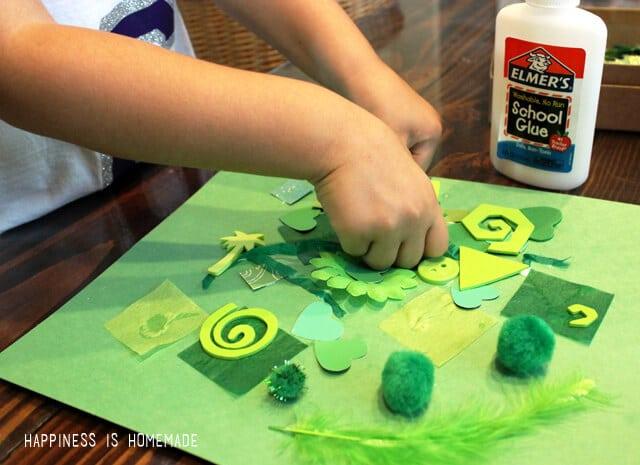 Preschool Art Craft - Color Collage