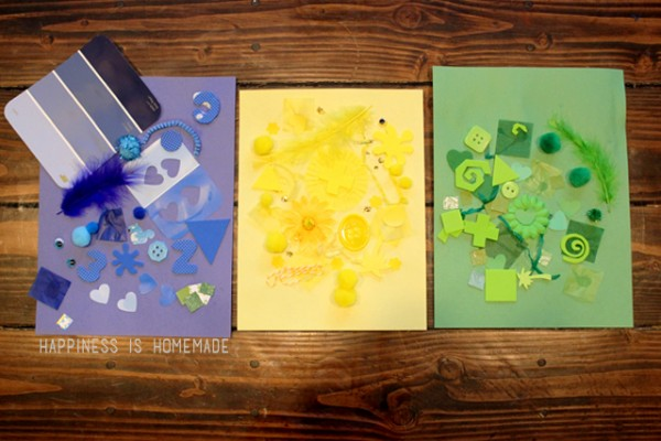 Preschool Craft Activity - Color Collage Art Work