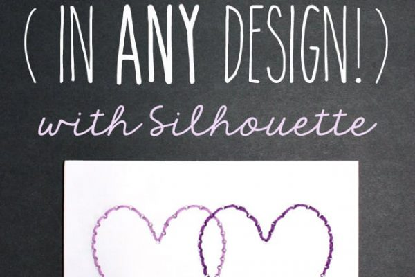 Quick & Easy Stitched Card in ANY Design with Silhouette