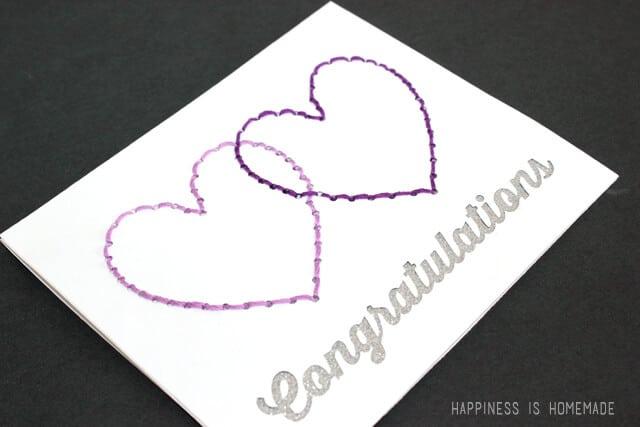 Rhinestone Pattern Stitching Card