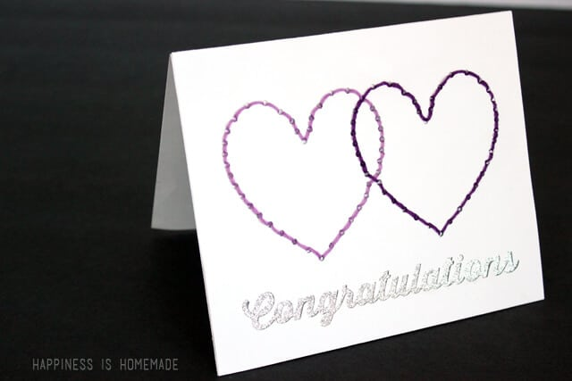 Stitched Card Using a Silhouette Rhinestone Template