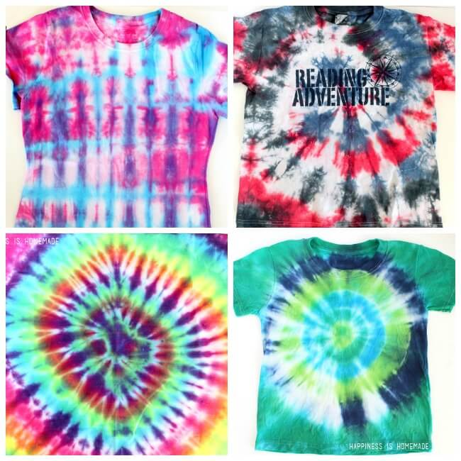 1f1e9507d6c0 How to Tie Dye Shirts with Kids - Happiness is Homemade