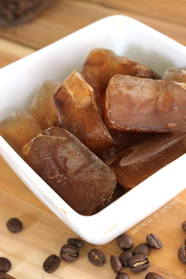 Frozen Coffee Ice Cubes