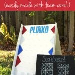 DIY Backyard Plinko Party Game