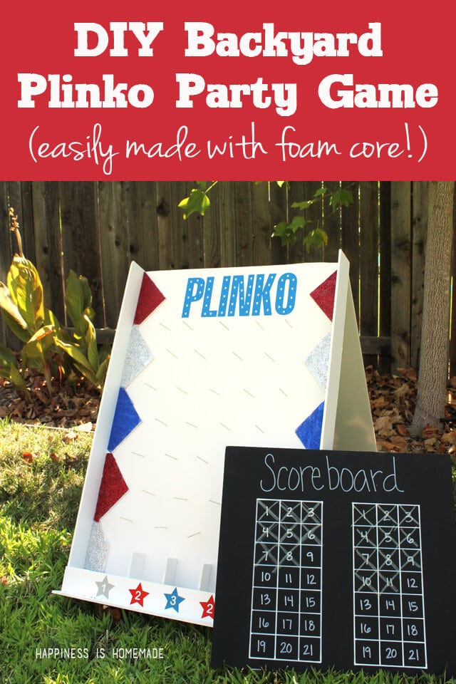 Diy Backyard Plinko Party Game Happiness Is Homemade