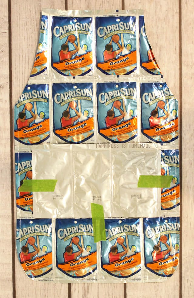Making a Capri Sun Apron