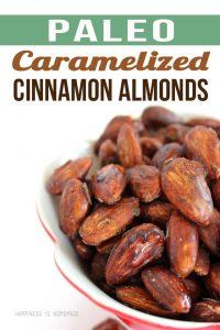 Paleo Caramelized Cinnamon Almond Recipe - Only 3 Ingredients