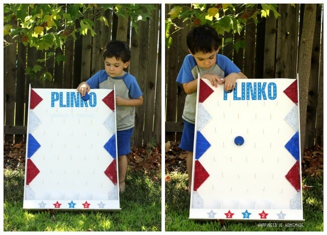 Playing Backyard Plinko