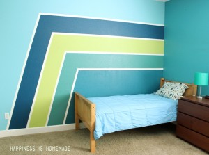 Racing Stripe Accent Wall