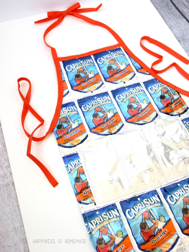 Recycled Capri Sun Apron Tutorial