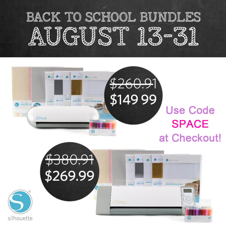 Silhouette Back to School Promo