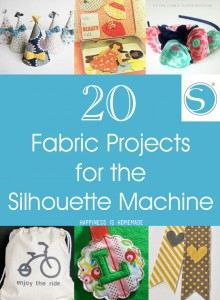 20 Fabric Projects for the Silhouette Machine