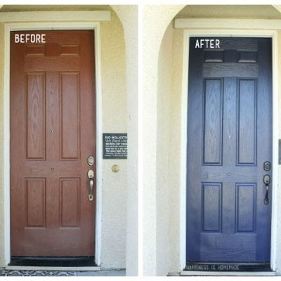 A Modern Front Door Makeover