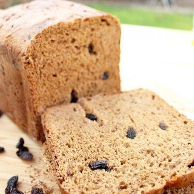 Sugar-Free Cinnamon Raisin Bread