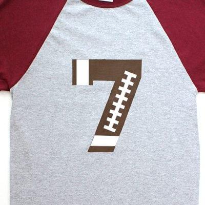 Custom Football Team Number Shirt