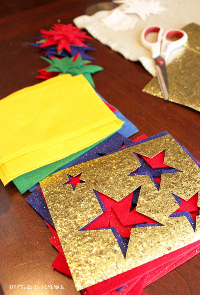 Cutting Felt Stars with the Sizzix Big Shot Machine