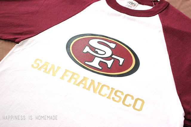 DIY San Francisco 49ers Football Shirt