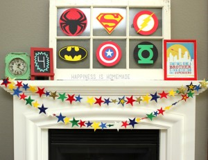 Felt Star Garland Banner for Superhero Party