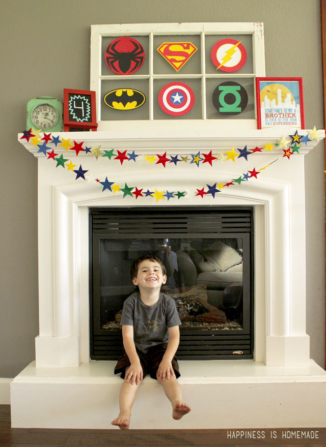Felt Star Superhero Party Banner