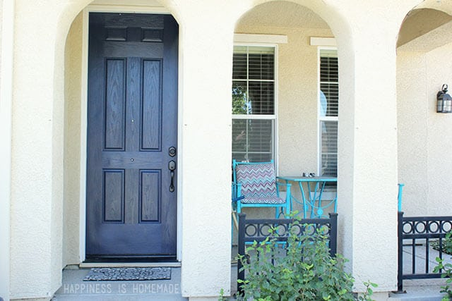 Front Door Makeover with Modern Masters Paint in Peaceful