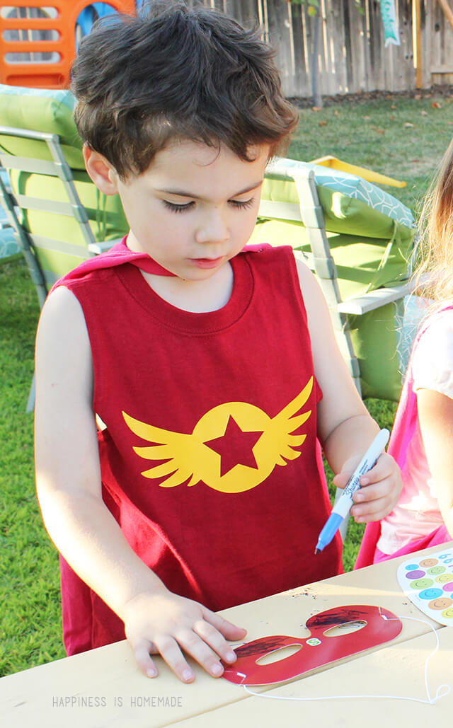 Heat Transfer Vinyl Superhero Shirt