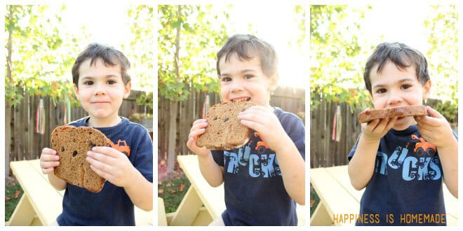 Kids Love Cinnamon Raisin Bread