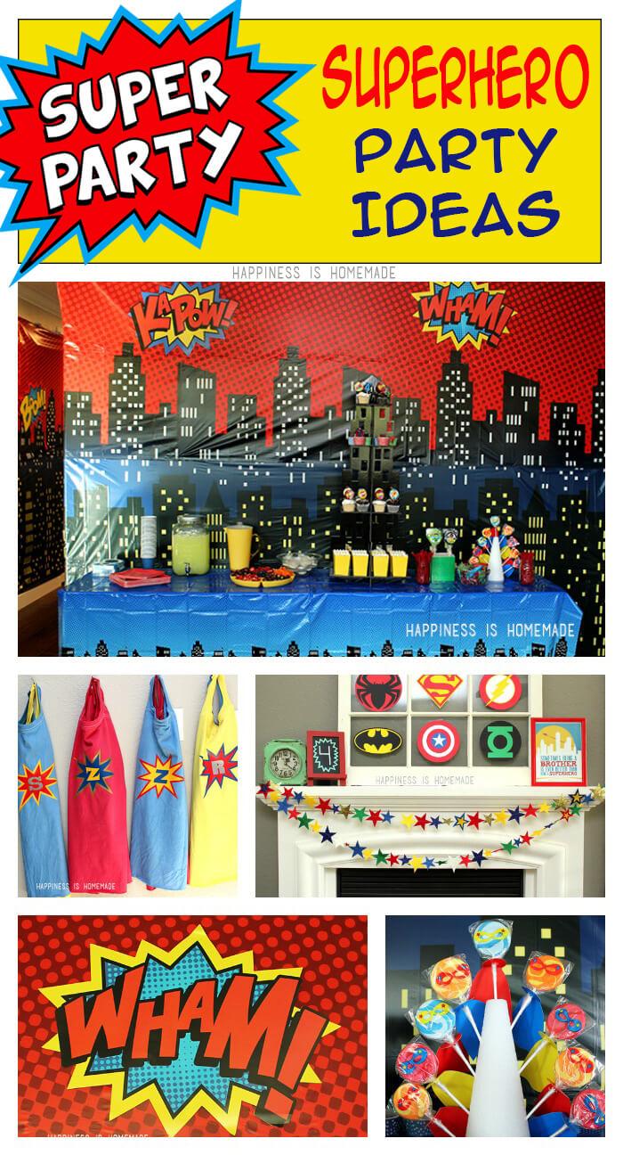 Superhero Classroom Decoration Ideas ~ Superhero movie night birthday party ideas happiness is